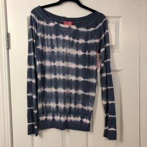 32 FLAVORS by YFB Blue Tie Dye Shirt Sz Med - NWT!